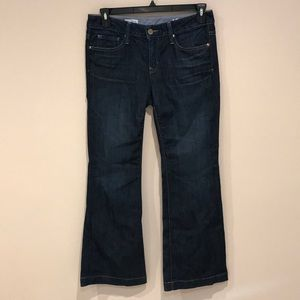 Gap Long and Lean Boot Cut Jeans in Dark Blue Wash